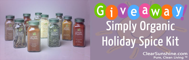 Simply Organic Spices Giveaway! (Oct. 31st – November 14th)