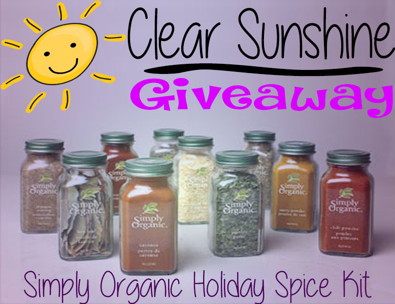 Simply Organic Holiday Spice Kit Giveaway
